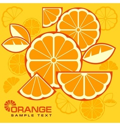 Citrus fruit slices background vector