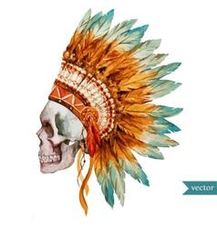 Ethnic skull vector image