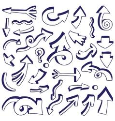 arrows doodles vector image