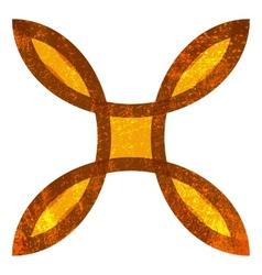 Grunge Hieroglyph vector image
