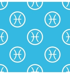Pisces sign blue pattern vector