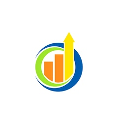 Business finance chart arrow logo vector