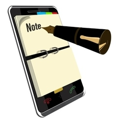 Note application for smart phone vector