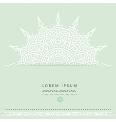 ethnic circular greeting gentlecards and vector image