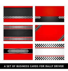 Business card - rally driver templates vector image