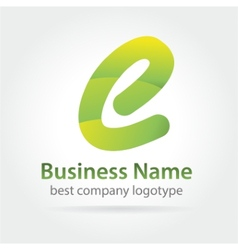 Abstract colored logtype for company branding vector image