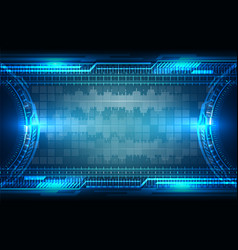 Abstract future tech background vector