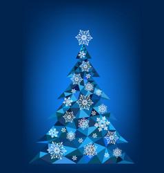 abstract polygonal christmas tree vector image vector image