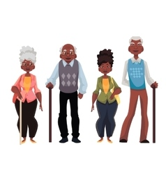 African American old men and woman vector image
