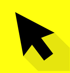 arrow sign black icon with flat vector image vector image