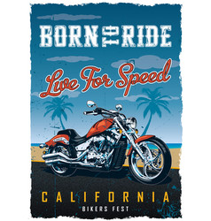 bikers fest poster vector image vector image