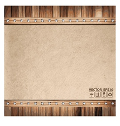 Brown paper background and wood texture vector image