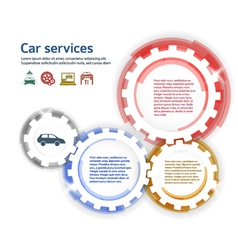 car service brush effect it gears white background vector image