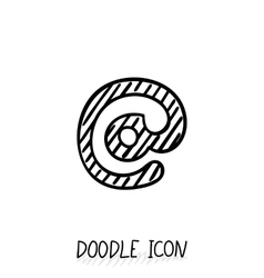 Doodle E-Mail Symbol Hand Drawn Design vector image vector image