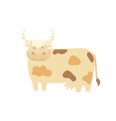 Funny cow hand drawn vector