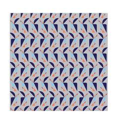 Geometric bird on grey background pattern seamless vector