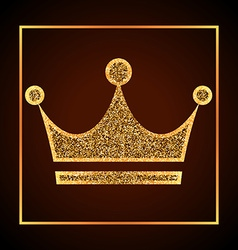 Golden dots crown vector