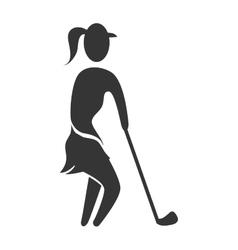 Golf sport theme design vector image