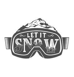 Handdrawn vintage snowboarding quotes vector