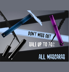 mascara package design vector image vector image