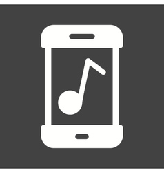 Music mobile app icon image can also be vector