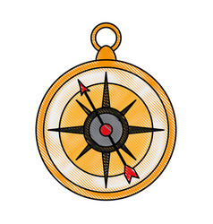 navigation compass isolated vector image