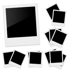 Polaroid photo frame vector image vector image
