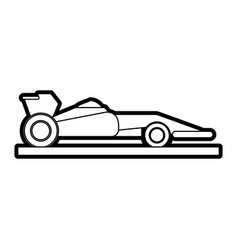 Race car silhouette vector