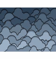 rainclouds vector image