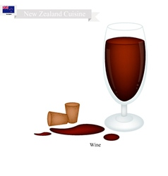 Red wine a popular dink in new zealand vector