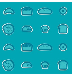 Seamless background with bakery vector image vector image