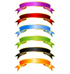 silky ribbons vector image