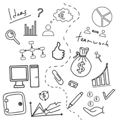 Sketch of business doddle elements vector