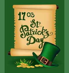 st patrick s day - greeting card vector image vector image