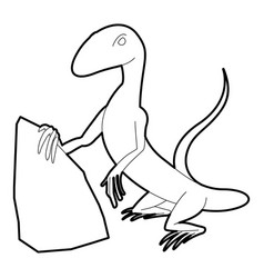 Standing lizard icon outline style vector