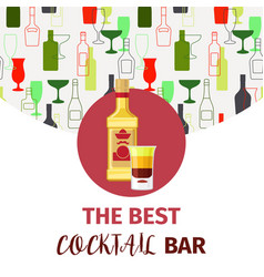 the best cocktail bar banner vector image vector image
