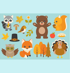 wild animal and elements vector image vector image