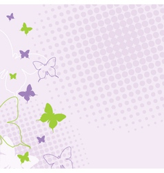 Spring butterfly background vector