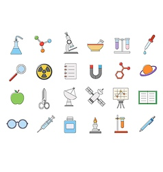 Sciense icons set vector image