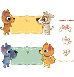 Set banners with dog vector image