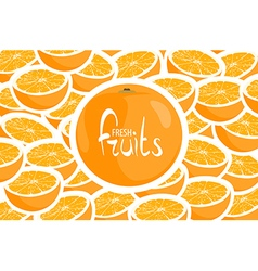 A lot of juicy oranges vector image
