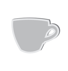 Sticky icon of cup isolated on white background vector