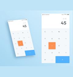 Calculator ui app design vector
