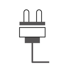 Wire cable connector icon vector