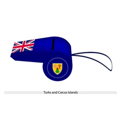 A whistle of turks and caicos islands vector