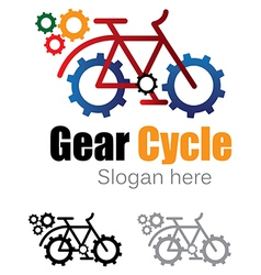 Gear cycle logo vector