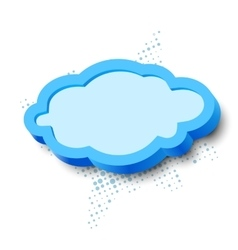 3d cloud frame vector image vector image