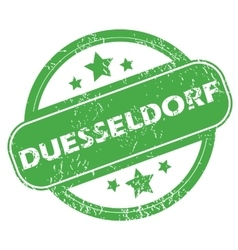Duesseldorf green stamp vector