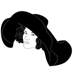 fashionable hat vector image