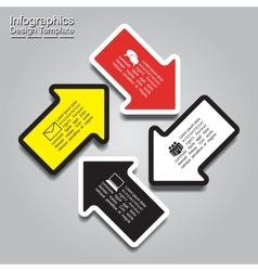 Infographic report template with arrows and text vector